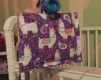 Purple llama Insulated Infinity Pump Bag Cover and Port Connection Cover-Insulated Ice Pack Bag-Feeding Tube-Tubie-GTube-Jtube