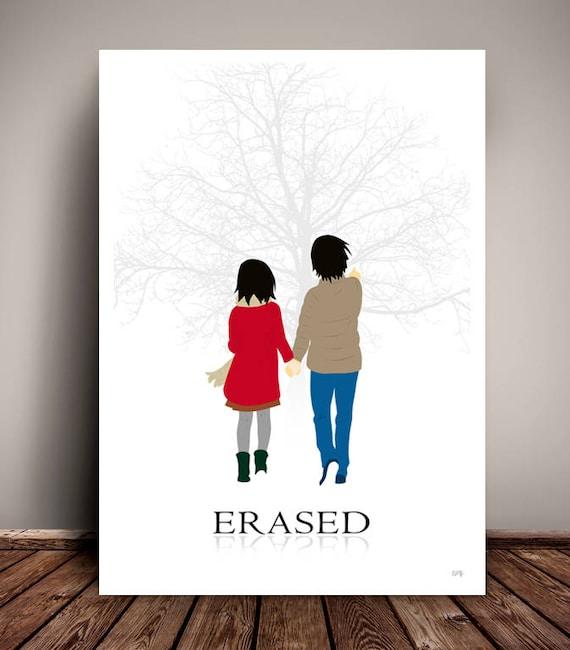 Erased // Boku dake ga Inai Machi // Netflix // Minimalist Movie Poster // Unique Art Print