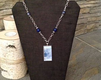 Watercolor Necklace /Demin Collection