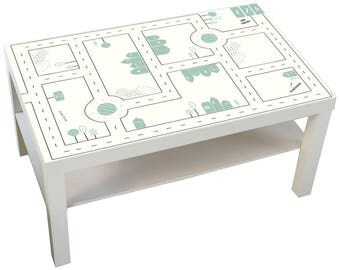 Kids Play table: Furniture sticker SMASTAD for IKEA LACK coffee table big (1M-ST10-08) - Furniture not included