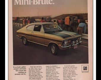 "Vintage Print Ad 1960s : GM Buick Opel Rallye Kadett Automobile Car Wall Art Decor 8.5"" x 11"" each Advertisement"