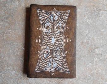 Notebook - ethnic sketchbook - journal - diary - gift for Traveler - Kilim 3