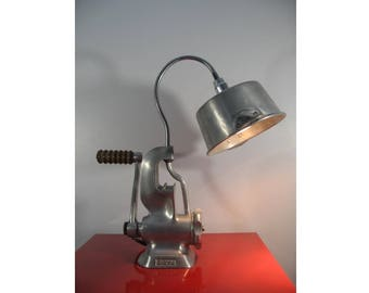 Recycled chopper desk lamp