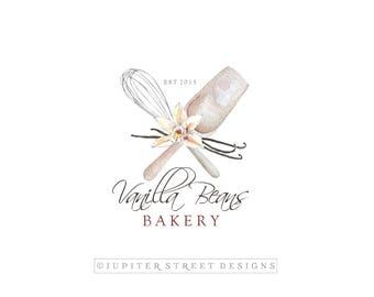 Bakery logo etsy baking logo bakery logo food logo whisk logo vanilla bean logo pronofoot35fo Choice Image