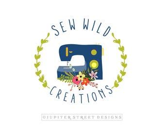 Sewing Logo-Sewing Machine Logo-Craft Logo-Quilt Logo-Premade Logo-Business Logo-Branding
