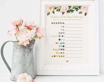 Baby Shower Emoji Game, Children's Book Emoji Pictionary, Pictionary Game, Children's Book Emoji, Baby Shower Emoji, Baby Shower Invitation
