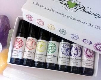 Chakra Balancing Essential Oil Blends ~ Chakra Healing~ Chakra Oils ~ Chakra Box Set ~  Aromatherapy *Organic*