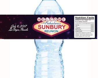 Family Reunion Water Bottle Labels, Family Reunion Favors, Las Vegas,  Reunion Decor,  Reunion Party Favors,  Reunion Favors
