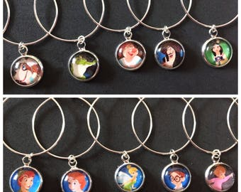 Disney Peter Pan Wine Glass Charms For Parties And Weddings Pack Of 10