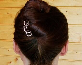Bridal Hair Pins - Hair Pin - Hair Fork - Leaf Hair Pins - Boho Hair Pins - Prom Hair Clip - Prom Bobby Pins - Minimal Hair Pin - Brass Hair