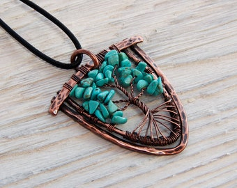 READY-TO-SHIP Tree-of-Life Pendant Copper wire pendant tree Life Necklace wire tree necklace wire tree of life copper pendant Tree of life