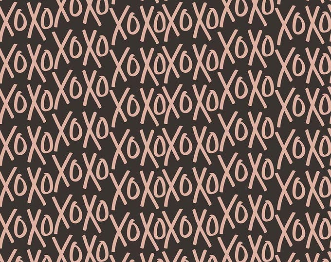 Yes Please Rose Gold by Riley Blake - XOS Rose Gold - Rose Gold Metallic Cotton Woven Fabric