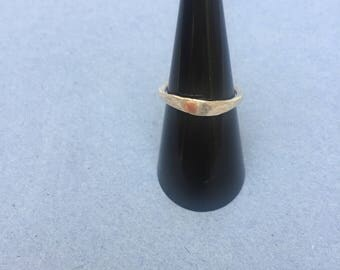 Handmade rivet ring, Sterling silver riveted ring. Size L UK, size 6 US. Textured ring, silver rivet ring