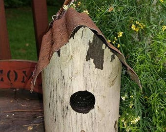 Primitive Folk art Birdhouse Bird house Summer decor Garden Faap Hafair Haha