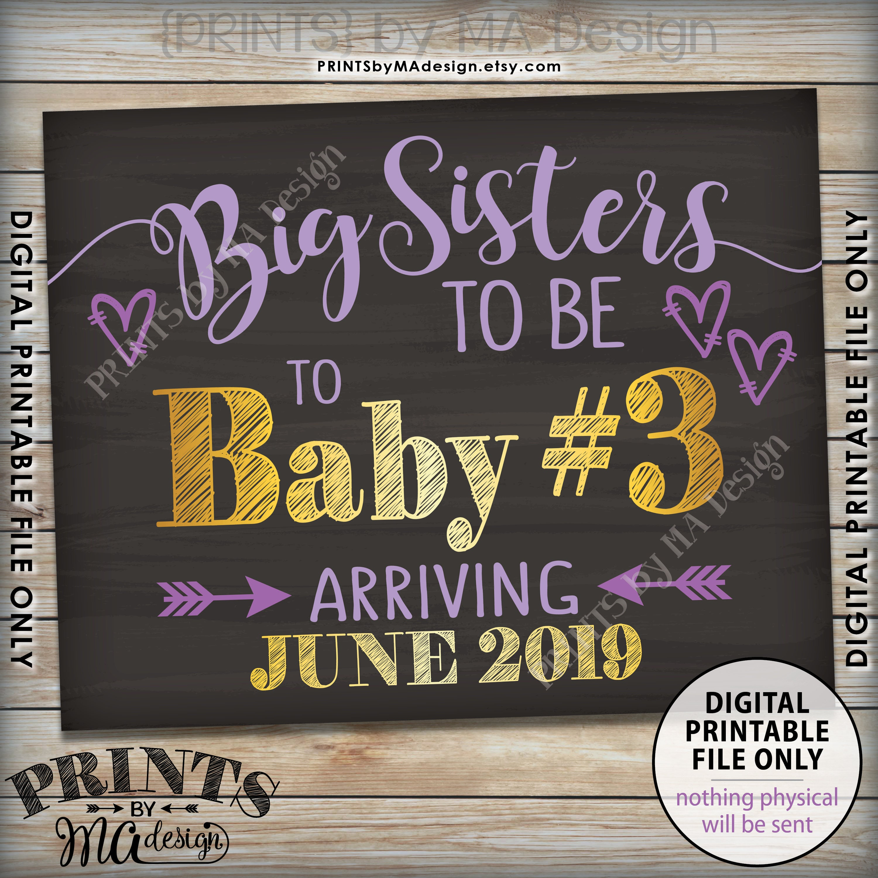 baby  3 pregnancy announcement  big sisters to 3rd baby