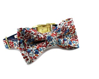 Luxury Dog or Cat Bow Tie - The WREN // Classic (Liberty of London floral print)