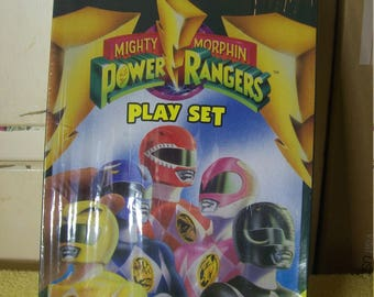 1993 Colorforms Mighty Morphin Power Rangers Play Set