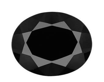 Genuine Natural Black Spinel AAA Rated Oval Faceted Loose Stones (4x3mm - 25x18mm)