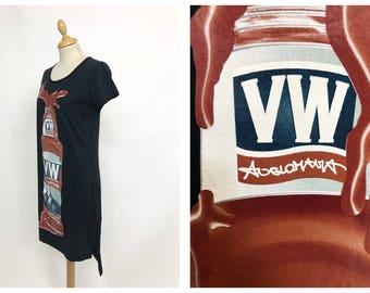 VIVIENNE WESTWOOD Anglomania vintage 1990s dark blue printed T-shirt dress - size S/M