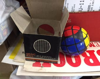 1981 Magic Ball Rubik's Cube style very hard to find new old stock
