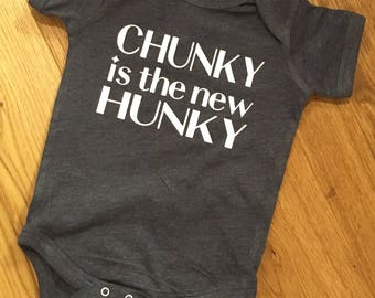 Chunky is the new hunky onesie
