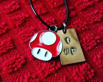 Super Mario Bros 1 UP Necklace