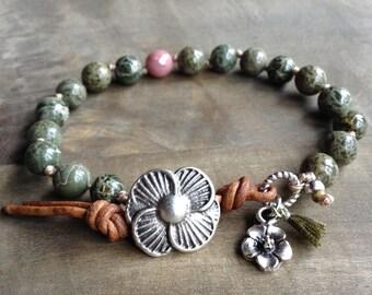 Bohemian bracelet boho bracelet hippie bracelet gypsy bracelet gemstone womens jewelry hippie jewelry bohemian jewelry rustic bracelet