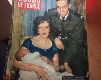 Vintage 1950s french magazine jours de france number 220 january 1959
