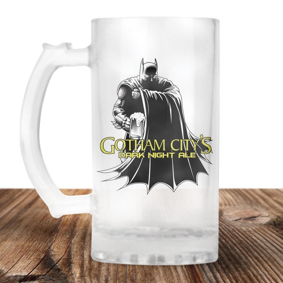 Batman Beer Stein - Batman Beer Mug - Gotham City-  Perfect Gift For Batman Lover-Craft Beer Mug -Beer Mug -Beer Lover Gift -Beer Lover Gift