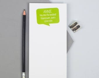 ON SALE Positive Message Notepad  - Personalized Notepad - Personalized Paper Pad - Custom To Do List - Custom Paper Pad - Back To School