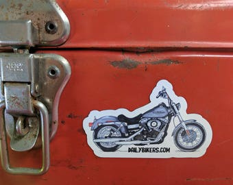 Motorcycle Fridge Magnet | High Quality Vinyl Motorcycle Magnet | Dyna llustration