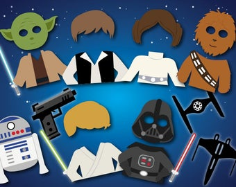Instant Download Space Wars Photo Booth Props, Printable Star Wars Photo Booth Props, Space Wars Party Star Wars Party Printable Props, 0263