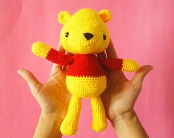 Winnie the pooh crochet toys /  travel sensory toy / crochet / New Baby Gift / Stuffed Animals / Toddler Toys / Baby Girl Gift / Baby Shower