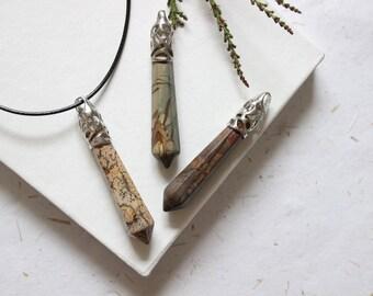 Jasper Pendant for Men, Gift for Boyfriend, Boyfriend Gift, Mens Gift, Men Jewelry, Men Birthday, Mens Pendant, Mans Necklace, For Men