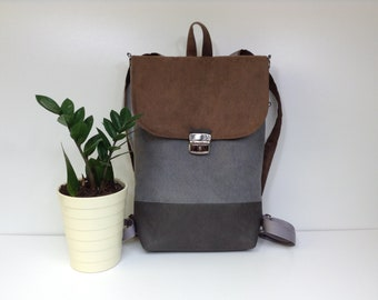 Vegan leather backpack,Bags and Purses,Laptop backpack, city backpack