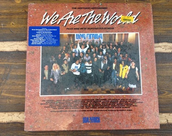 The Historic Recording We are the World Plus Nine New Superstar Songs Vintage Vinyl Record LP 1985