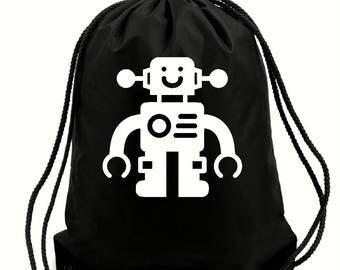 Mickey robot bag,gym bag,school bag,water resistant drawstring bag,swimming wet bag