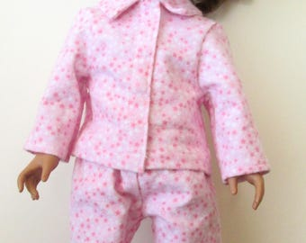 Pink Star Pajama's for 18 inch Doll