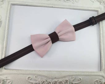 Bow tie Brown pink pale and chocolate - baby