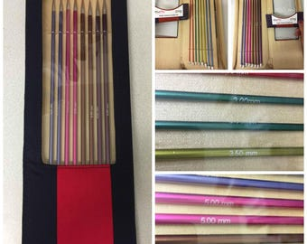 Knit Pro Zing knitting needle set of 8 sizes straight needles 30 cm length in attractive fabric case the perfect gift for a knitter