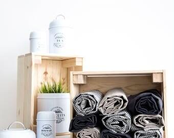 Linen towels set of 6 - Pure linen dish towels - Eco linen towel - Kitchen towel - Linen tea towel