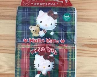 Vintage 1998 Sanrio Hello kitty Pocket Tissue Made in Japan Set of 4