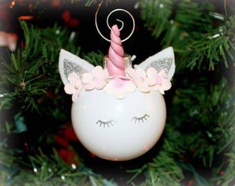 Unicorn Ornament | Unicorn Christmas ornament |  Unicorn Personalized Ornament |