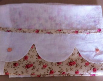 Baby Pink pattern and linen duvet cover 80 x 120 cm