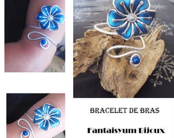 Arm bracelet and Royal blue flower