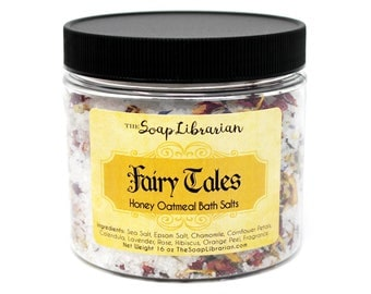 Fairy Tales Bath Salts - Relaxing Natural Bath - Honey Oatmeal