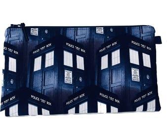 Dr Who Tardis Makeup Bag, Gadget Bag, Pencil Case, Handmade in the UK