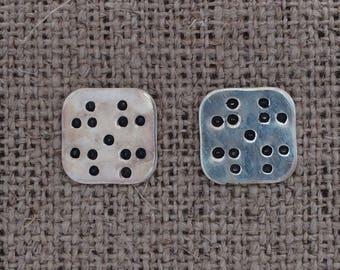 peerie pattern sterling stud earrings
