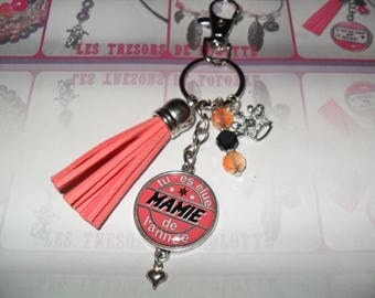 One Grandma of the year. Key holder or bag personalized jewelry