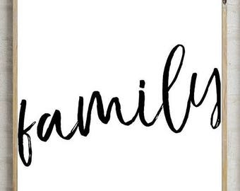 70%OFF family sign, family decor, family printable, printable home decor, family home print, printable decor, wall decor, instant download,
